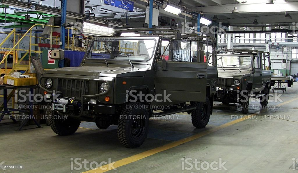 Honker vehicles in the factory stock photo