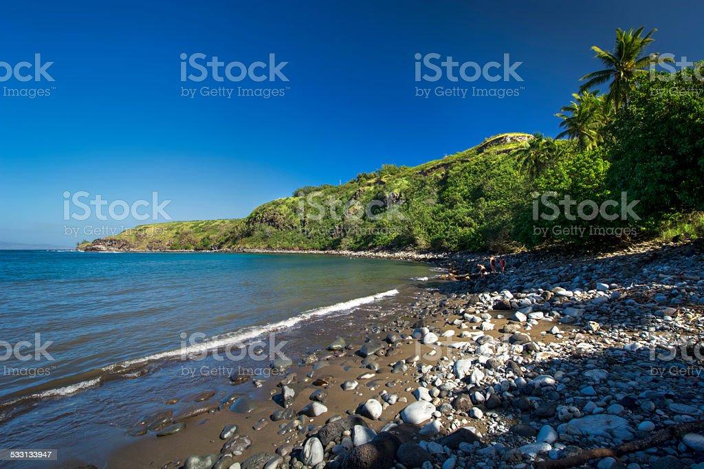 Honolua bay on the west coast of Maui, Hawaii stock photo