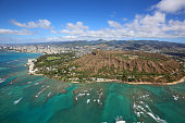 Honolulu and Diamond Head crater