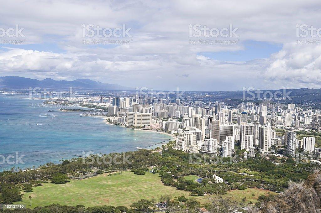Honolulu city, Hawaii royalty-free stock photo