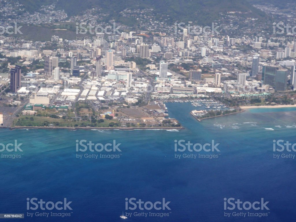 Honolulu Cityscape stock photo