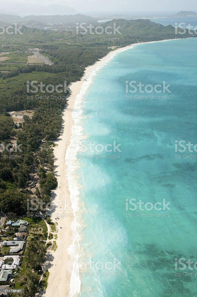 Honolulu coastline stock photo