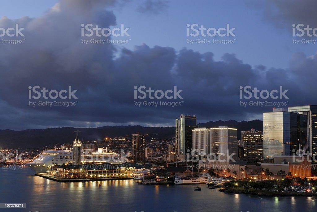 Honolulu Harbor royalty-free stock photo
