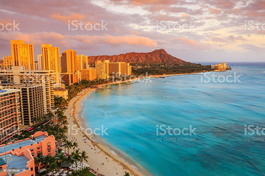 Honolulu, Hawaii. stock photo