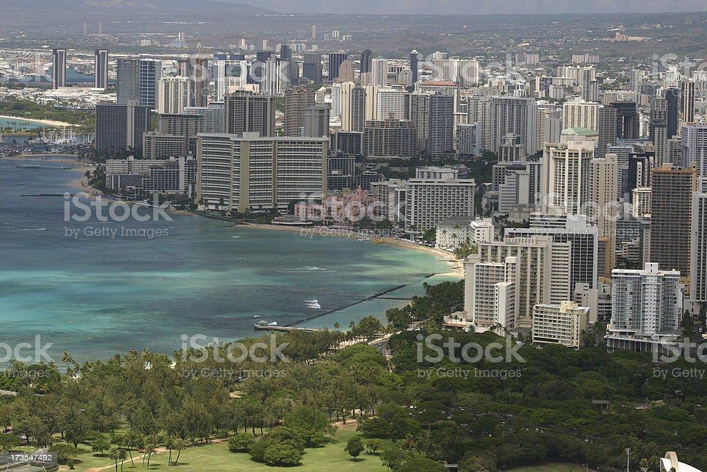 Honolulu, HI royalty-free stock photo