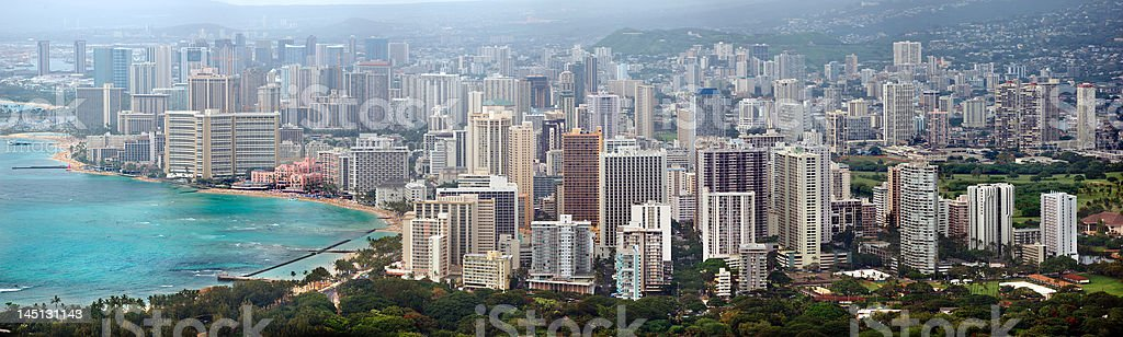 Honolulu panorama royalty-free stock photo