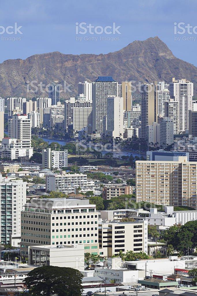 Honolulu Skyline royalty-free stock photo