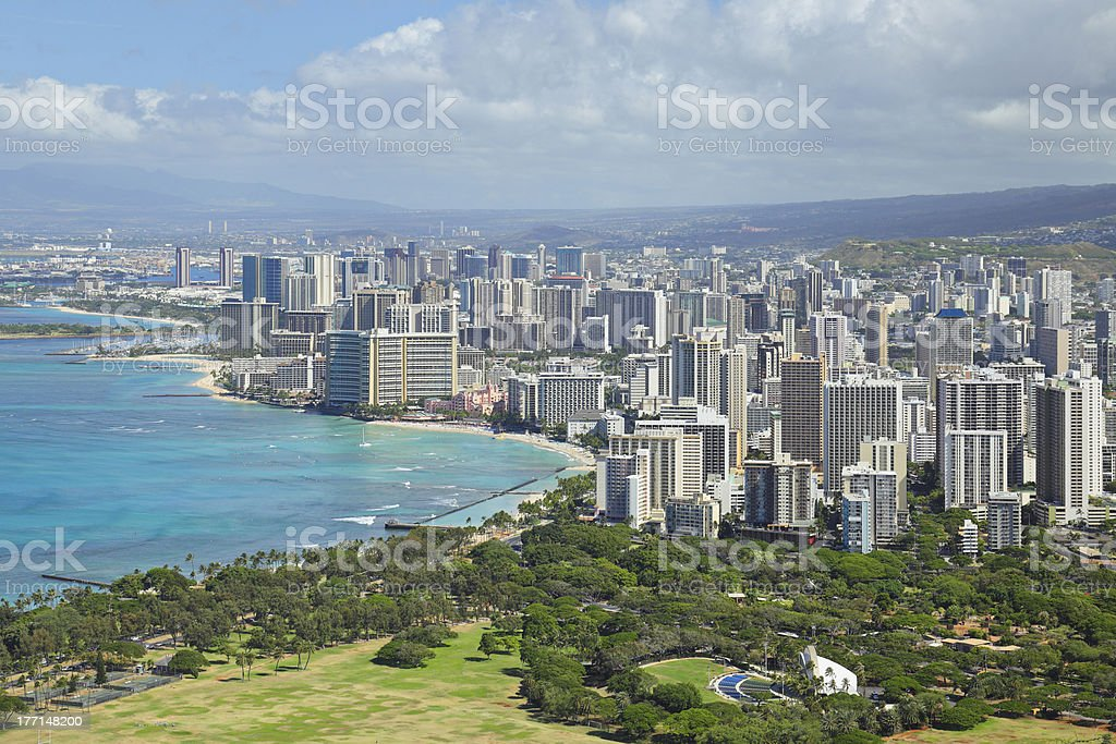 Honolulu Skyline royalty-free stock photo