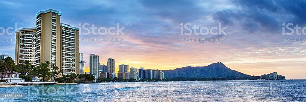 Honolulu Sunrise stock photo