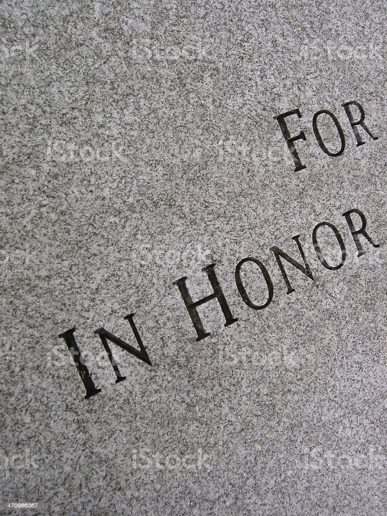 Honor - 45 angle - Black and White royalty-free stock photo