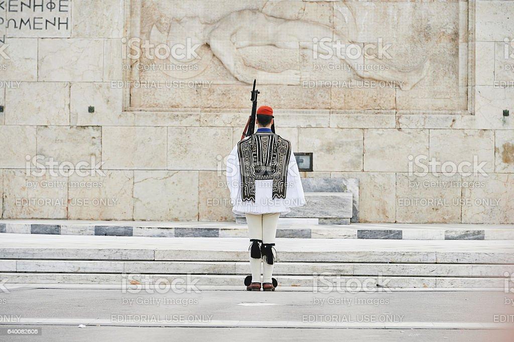 Honor Evzones guard Athens stock photo