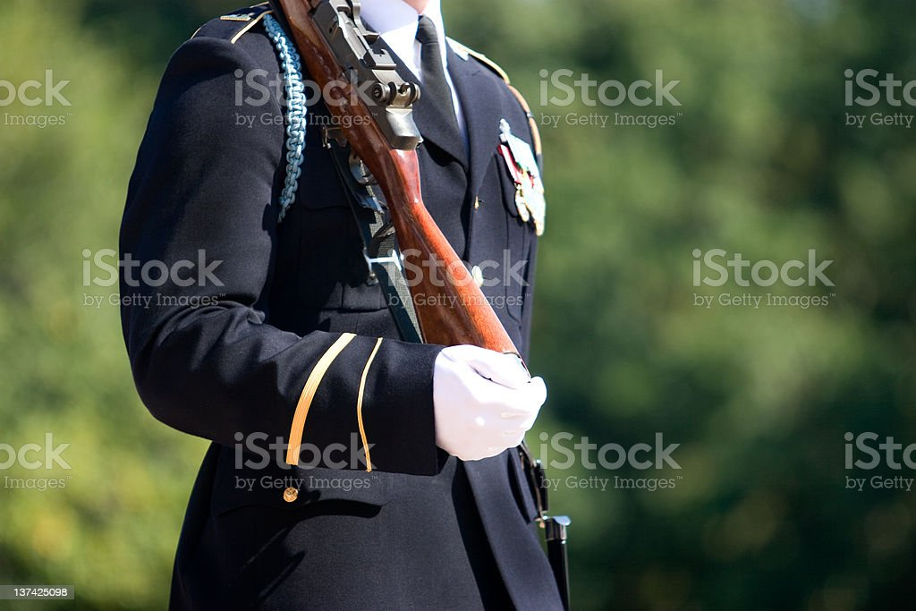 Honor Guard at Arlington Cemetery royalty-free stock photo