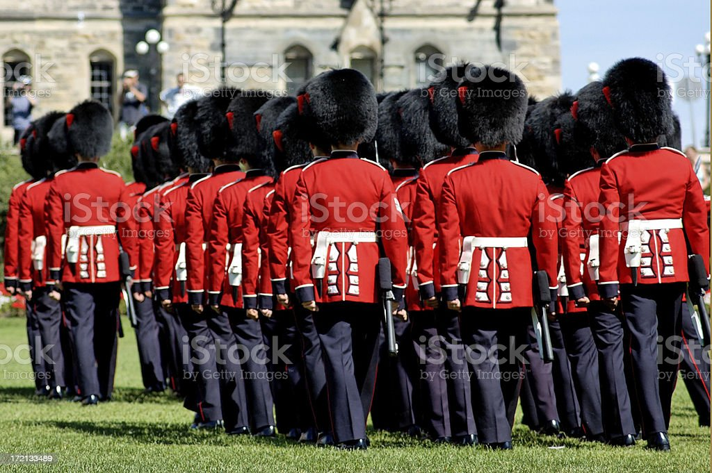 Honor Guard change royalty-free stock photo