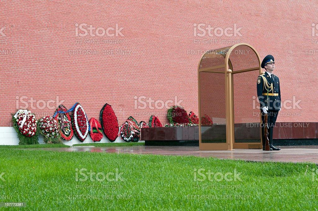 Honor Guard Kremlin Moscow stock photo