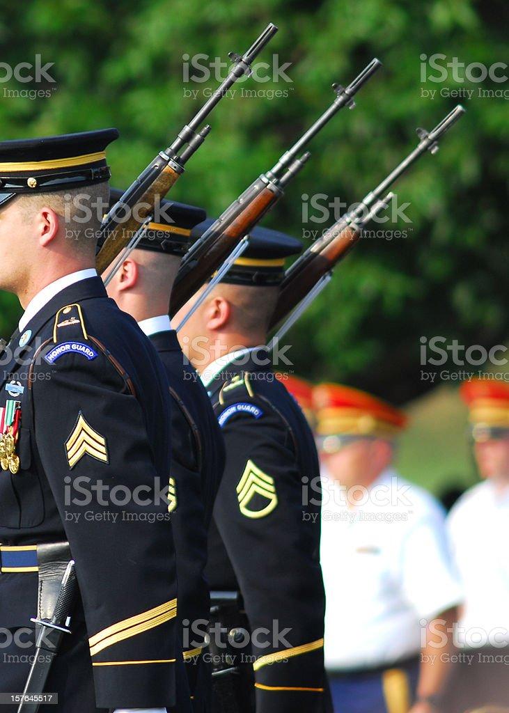 Honor Guard stock photo