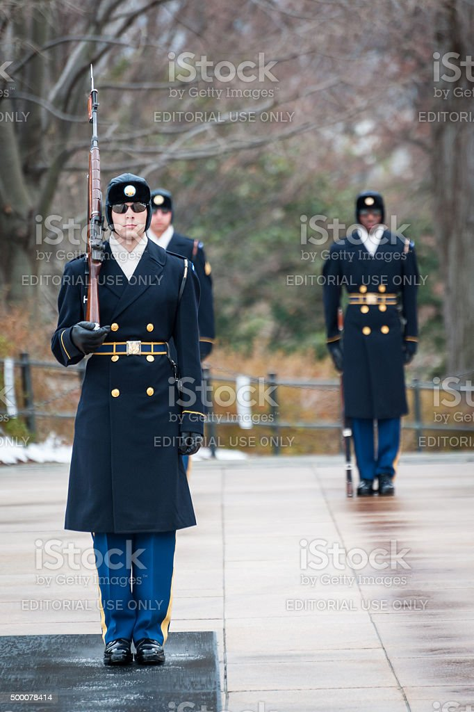 Honor guard stock photo
