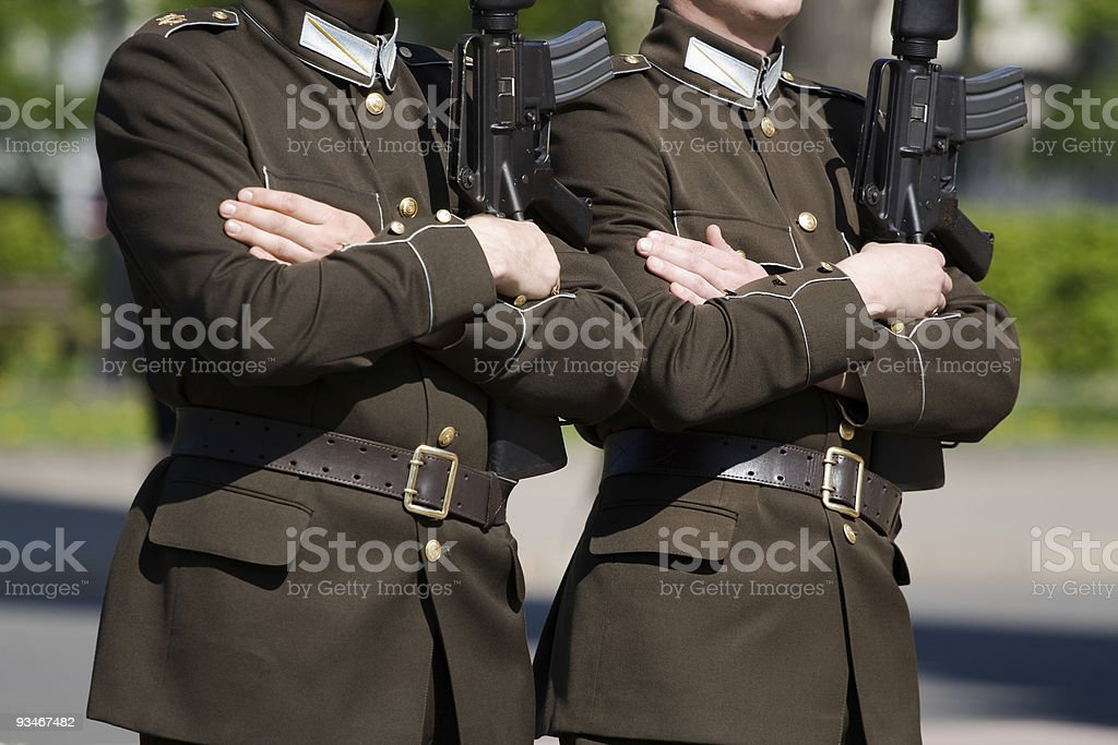 Honor guards royalty-free stock photo
