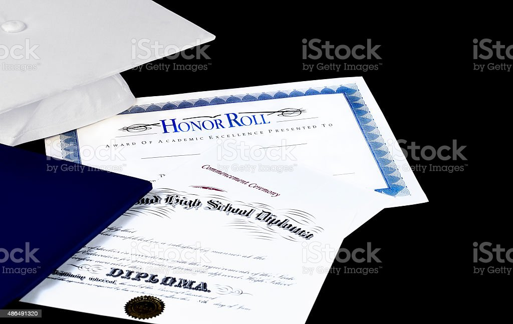 Honor Roll stock photo
