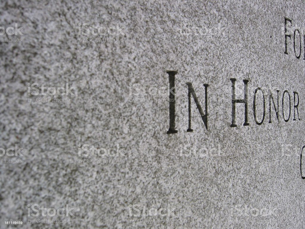 Honor - Side angle - Black and White royalty-free stock photo