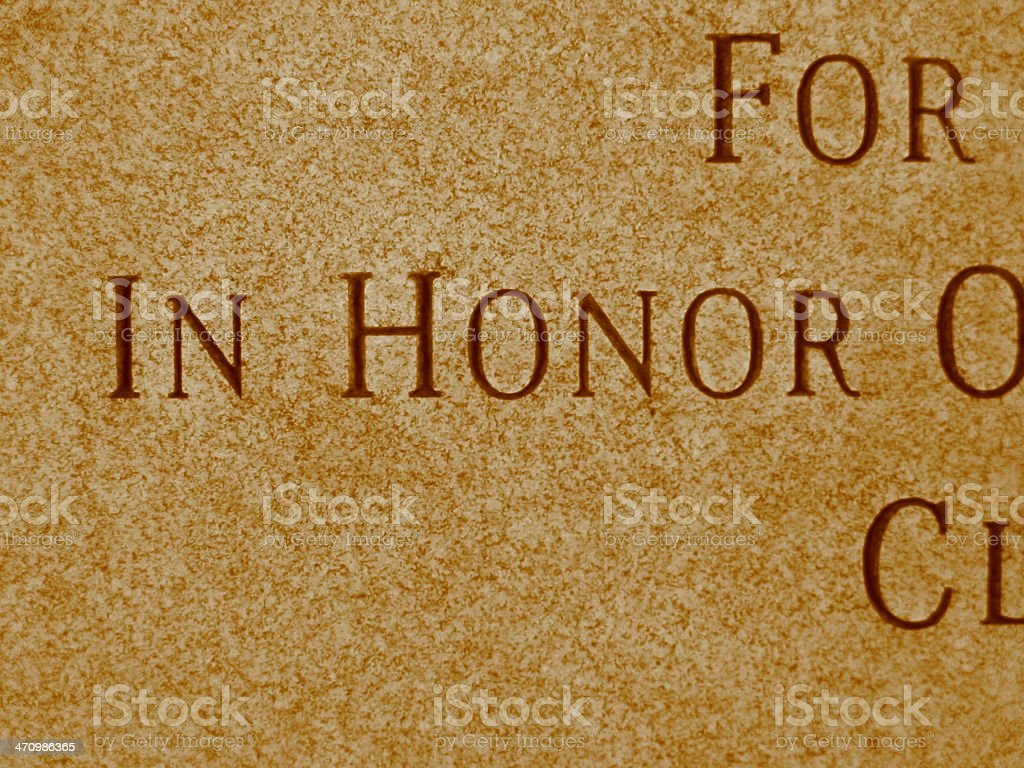 Honor - vertical angle - sepia royalty-free stock photo