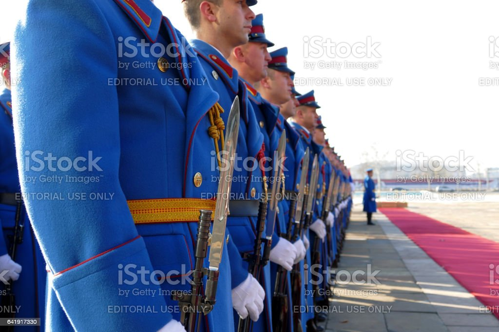 Honorary Guards Units Army of Republic of Serbia stock photo