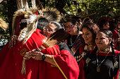 Honored veteran at the Kiowa Blackleggings Warrior Society Pow-wow.
