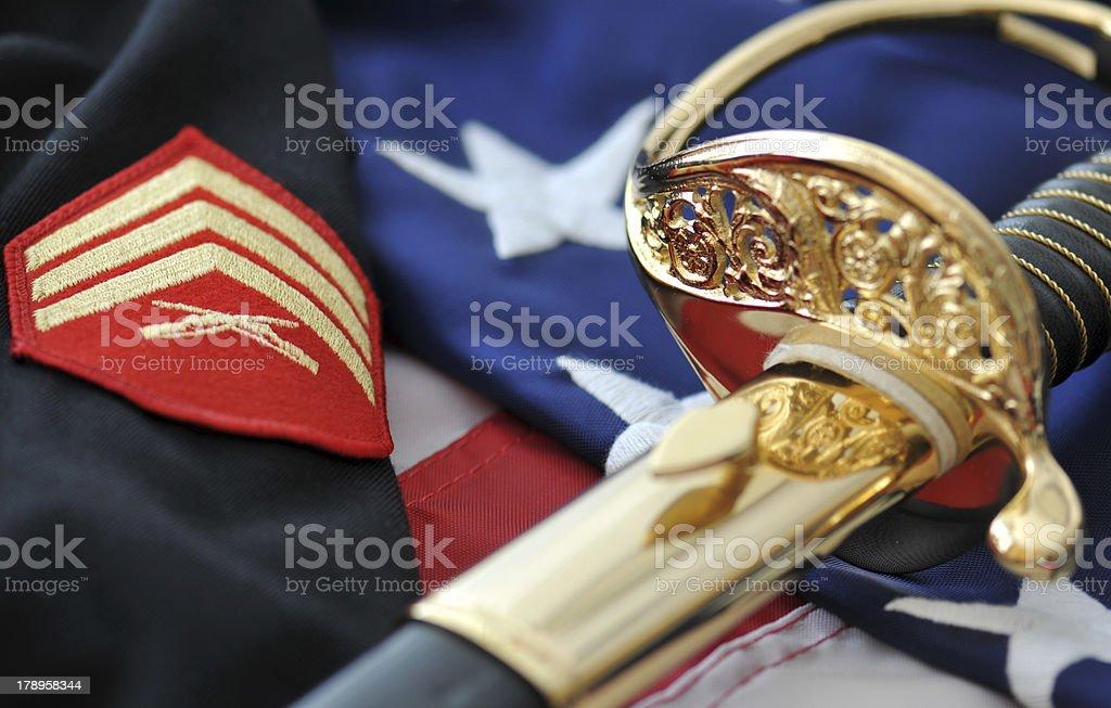 Honoring America's Marines stock photo