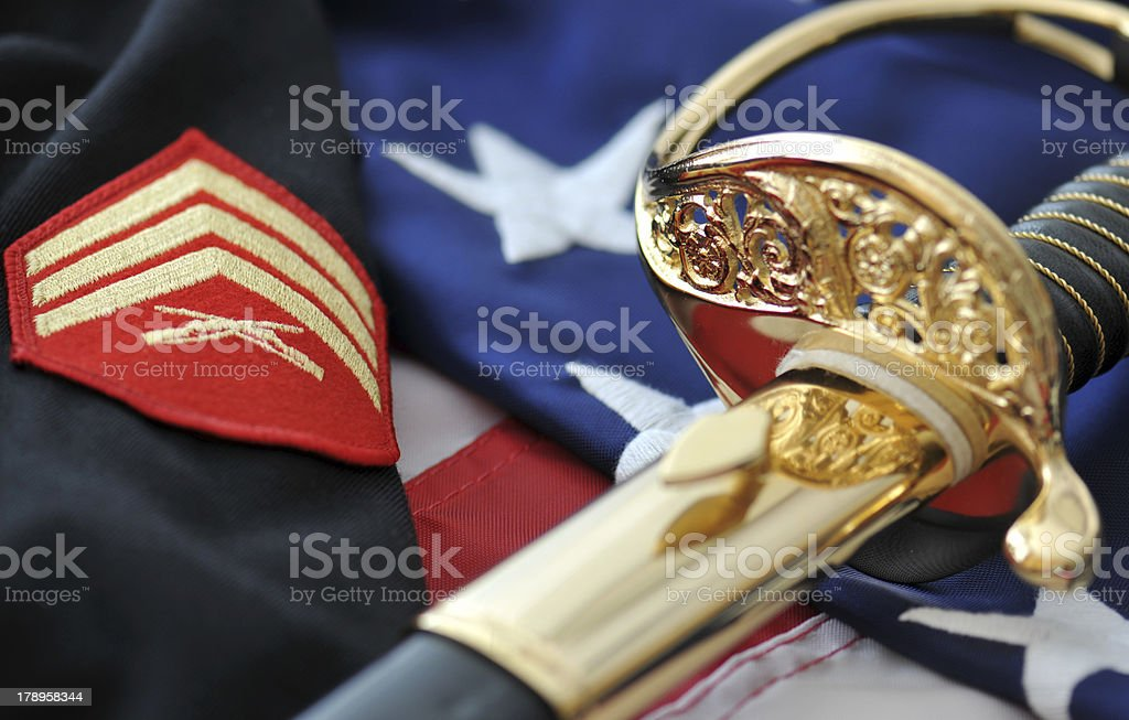 Honoring America's Marines stock photo