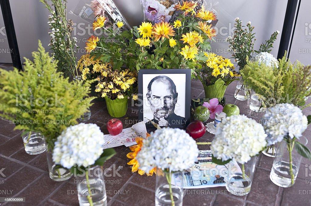 Honoring Steve Jobs stock photo