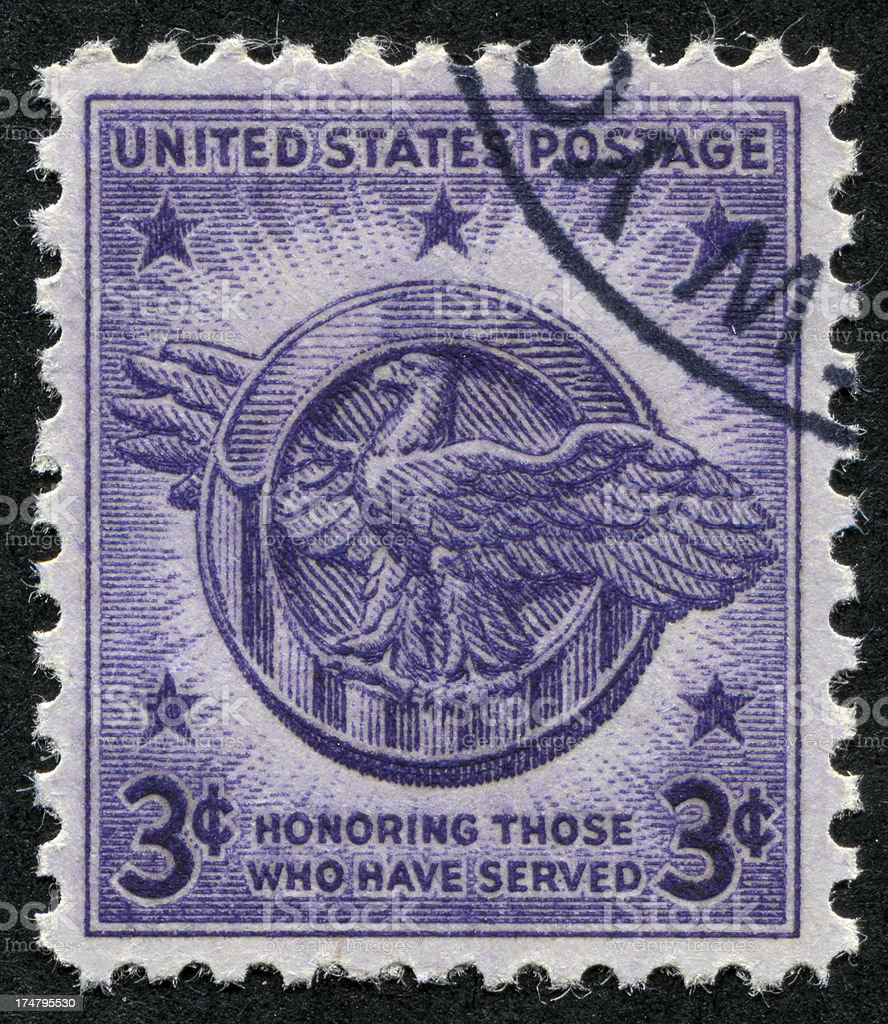 Honoring Those Who Served Stamp stock photo