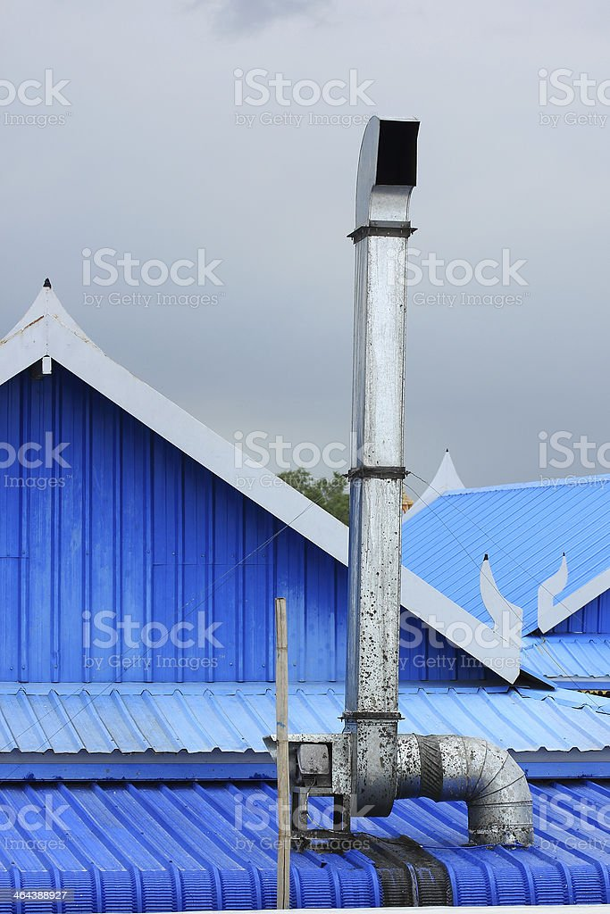 Hood on the roof. royalty-free stock photo