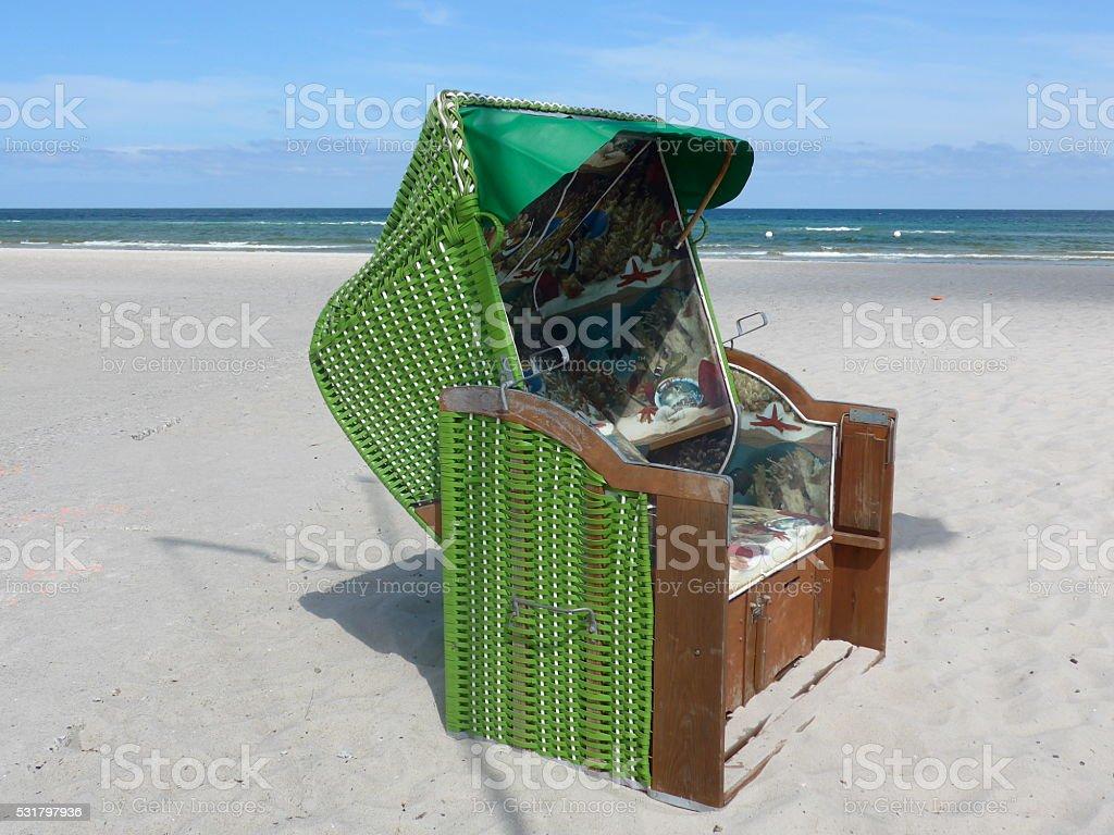 Silla de playa con toldo-Bild foto de stock libre de derechos