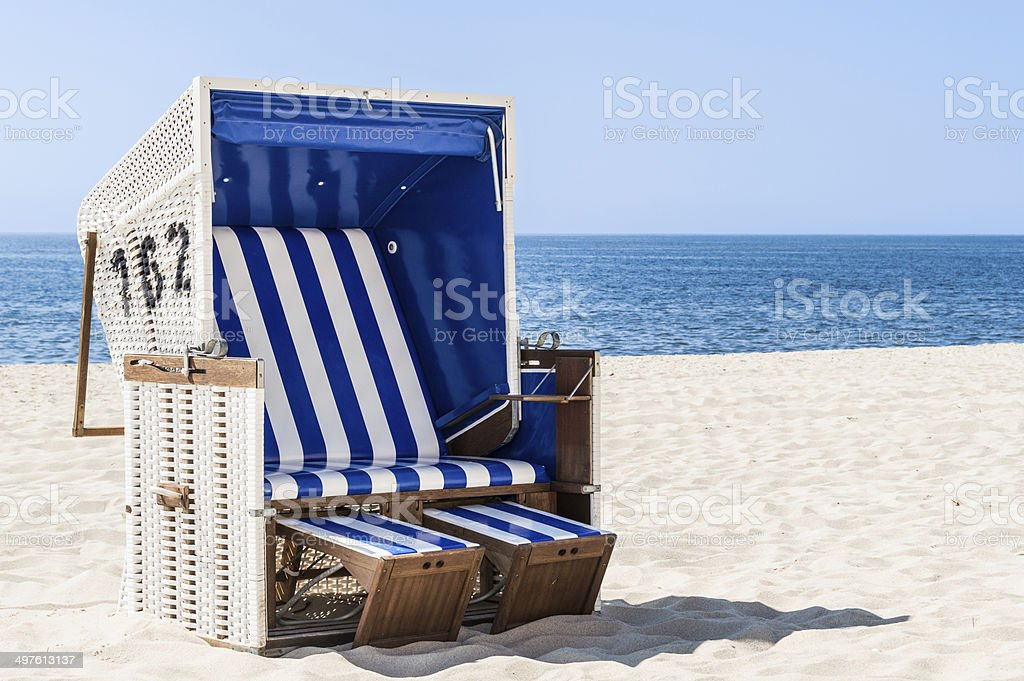 Hooded Beach Chair stock photo