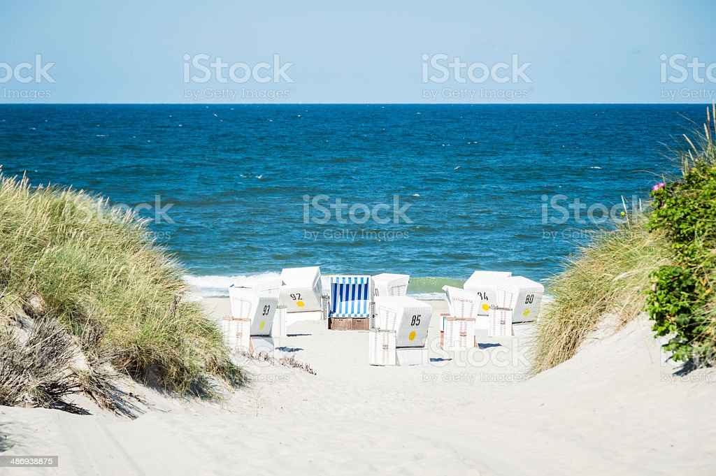 Hooded Beach Chairs royalty-free stock photo