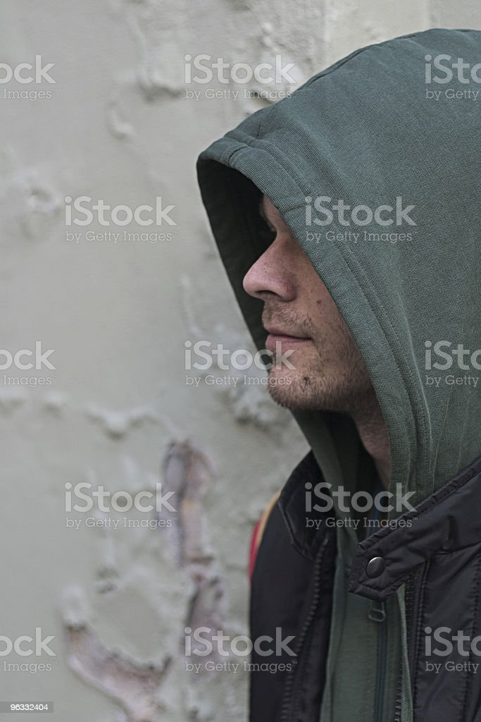 Hooded character royalty-free stock photo