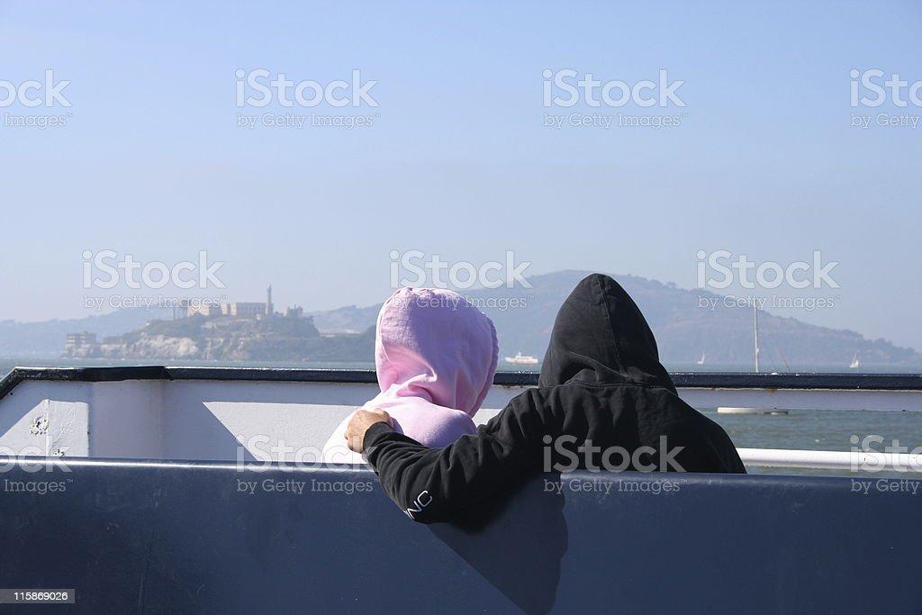 couple à capuche 2 photo libre de droits