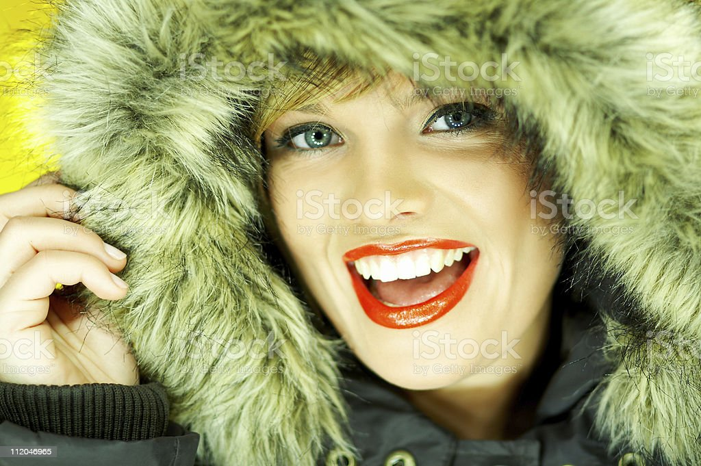 Hooded jacket royalty-free stock photo