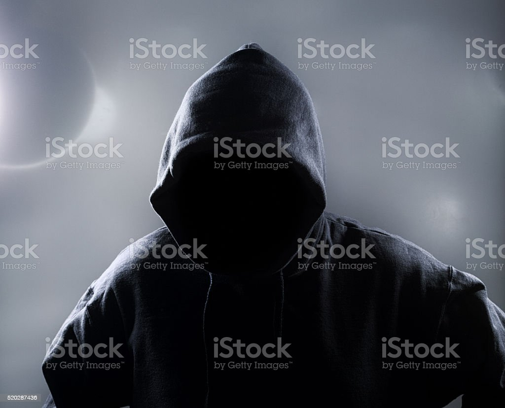 Hooded Person stock photo