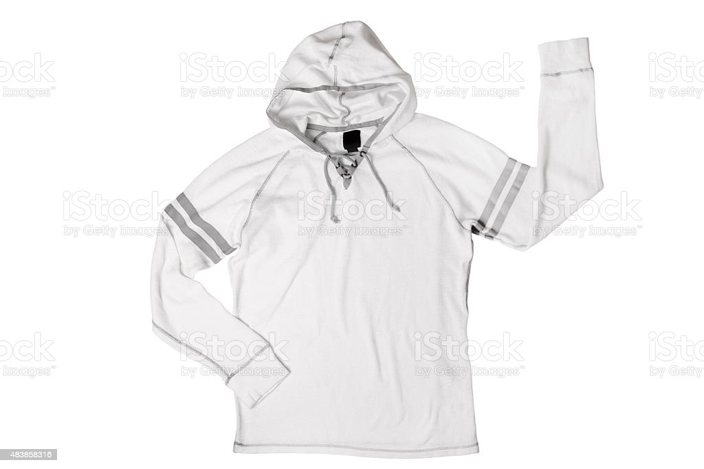 Hooded shirt stock photo