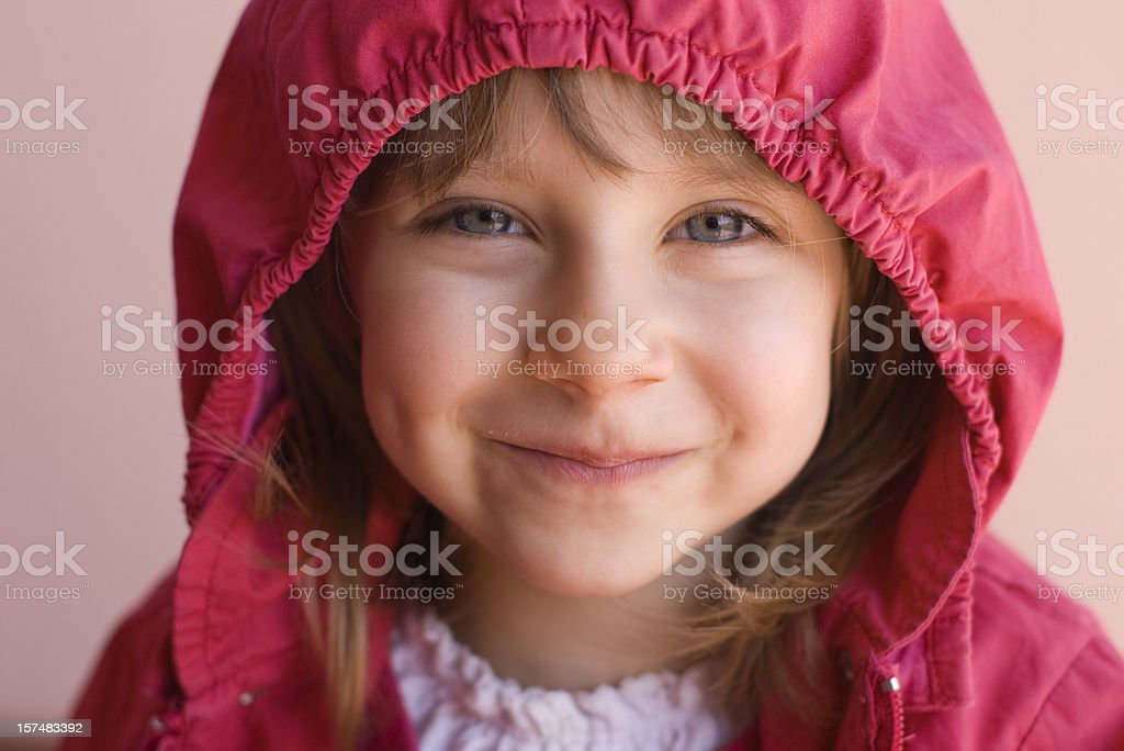 Hooded smile royalty-free stock photo
