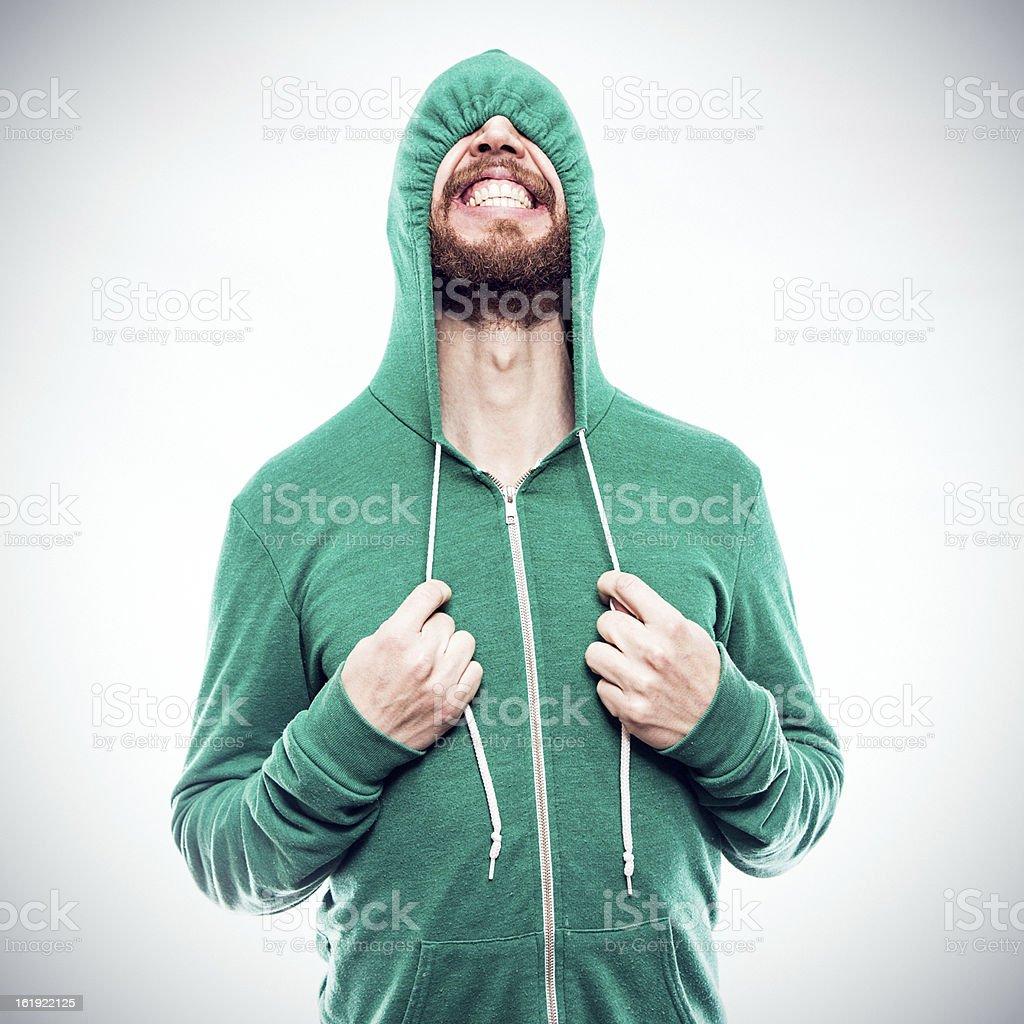 Hooded Sweatshirt Hide and Seek stock photo