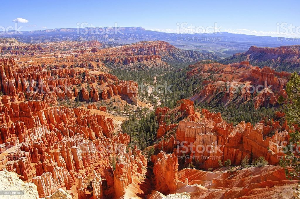 Hoodoo landscape of Bryce Canyon National Park, USA stock photo