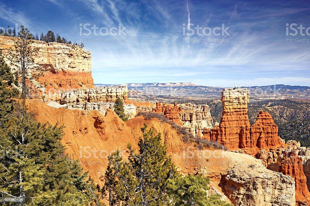 hoodoo rock formations in Bryce Canyon, Utah stock photo