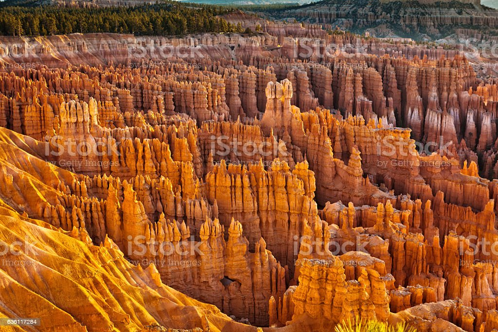Hoodoos at Bryce Canyon National Park Utah USA Horizontal stock photo