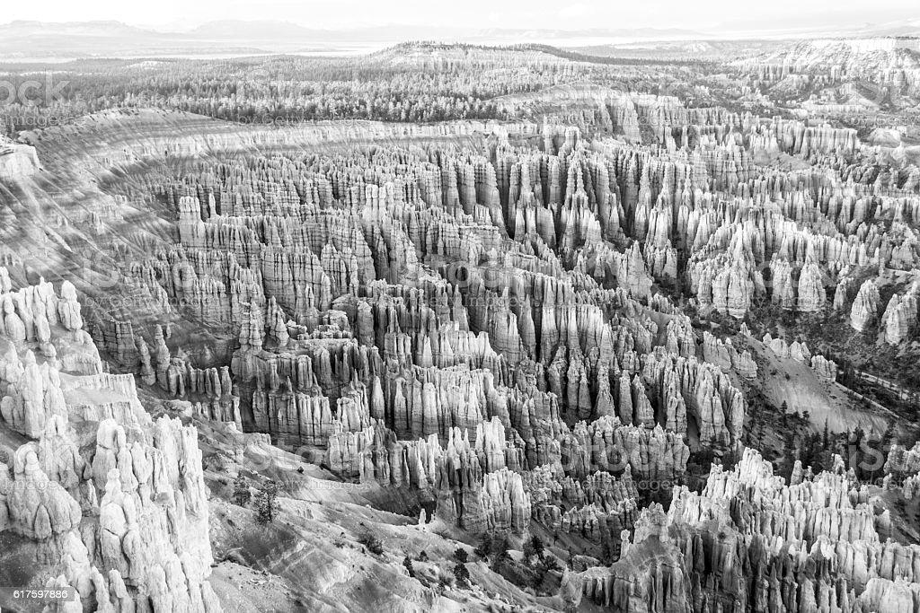 Hoodoos at Bryce Canyon stock photo