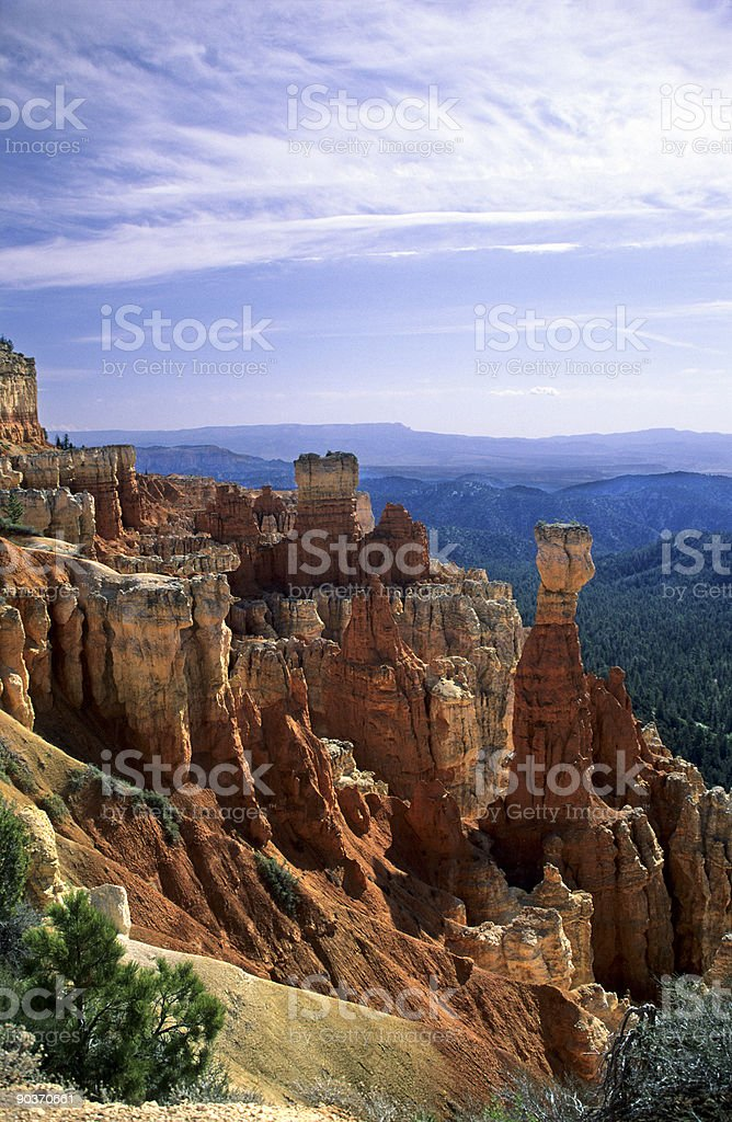 Hoodoos in Bryce Canyon stock photo
