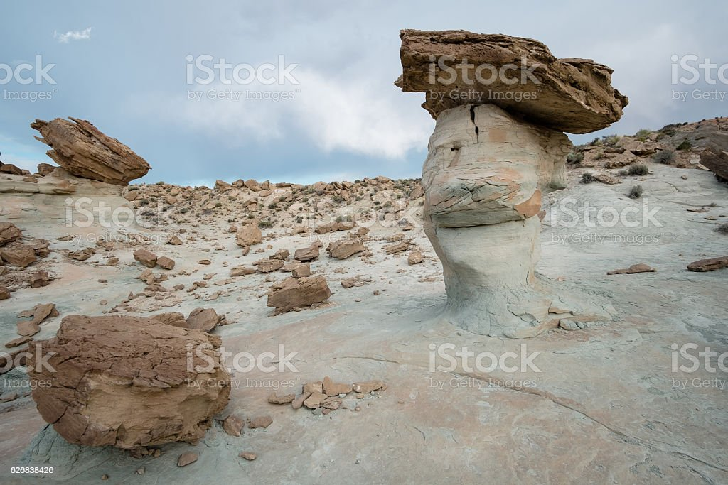 Hoodoos in Stud Horse Point stock photo