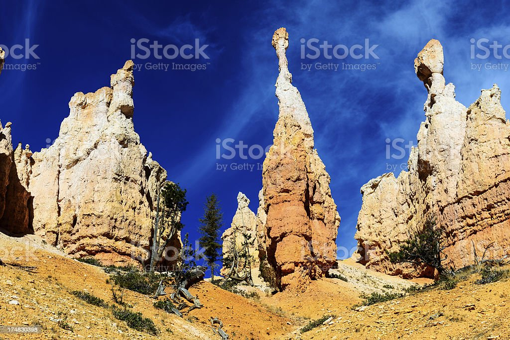 Hoodoos on the Peekaboo Loop Trail, Bryce Canyon stock photo