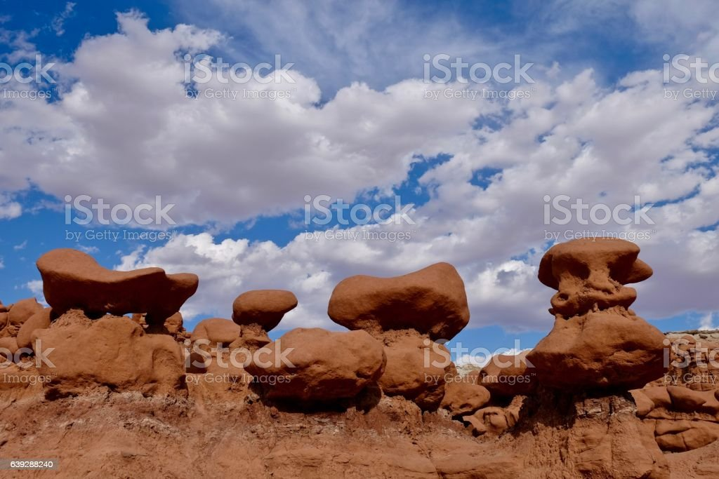 Hoodoos under the sky. stock photo