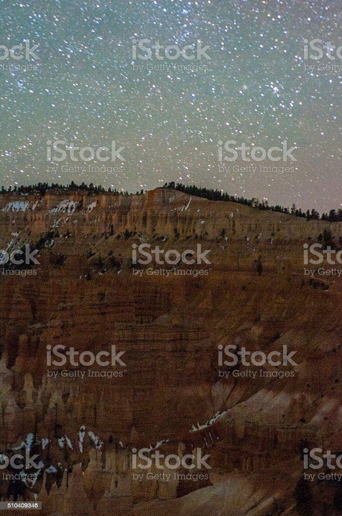 Hoodoos under the Stars stock photo